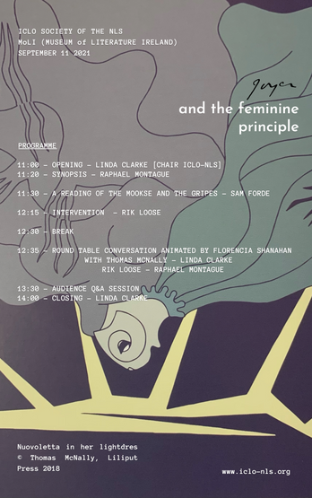 """""""Joyce and the Feminine Principle"""" Programme Tomorrow! Still Time to Register. Book Here."""