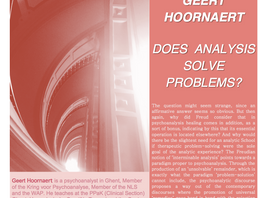 """""""DOES ANALYSIS SOLVE PROBLEMS?"""""""