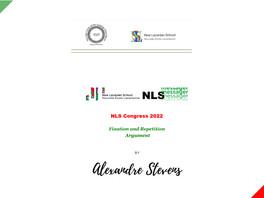 NLS Congress 2022 - The Argument         by Alexandre Stevens