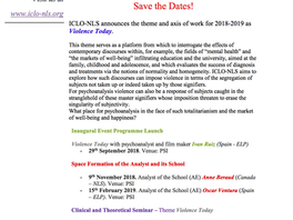 Programme 2018/19 SAVE THE DATES!