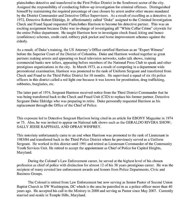 NEW BIO-SKETCH OF COLONEL WILLIAM HARRIS