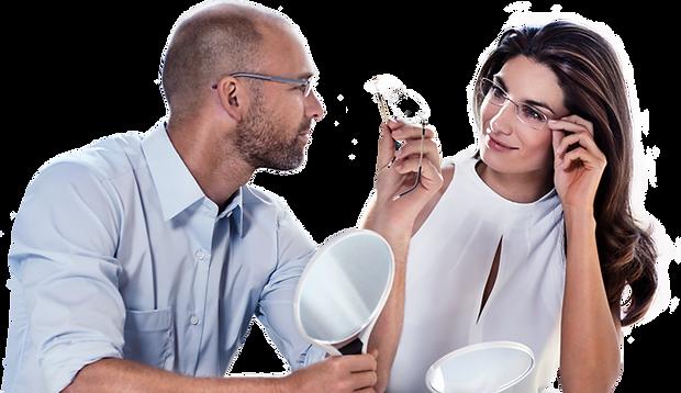 Coppia che vende occhiali vista SILHOUETTE