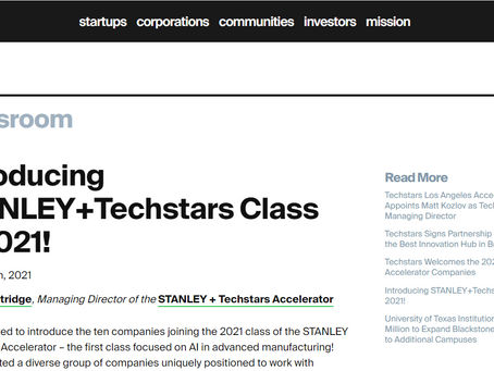 Introducing STANLEY+Techstars Class of 2021!