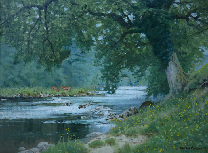 A quiet stretch of the Hodder
