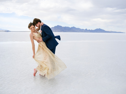 Enchanting Salt Flats Engagement / Ashley & Dane / West Valley City, Utah