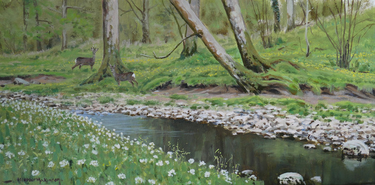 Spring by the stream