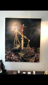 Lady-Liberty-Acrylic-paining-Still-Life-