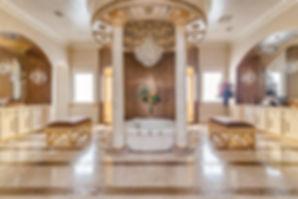 Master-Bath-Scagliola-columns-gold-leaf-