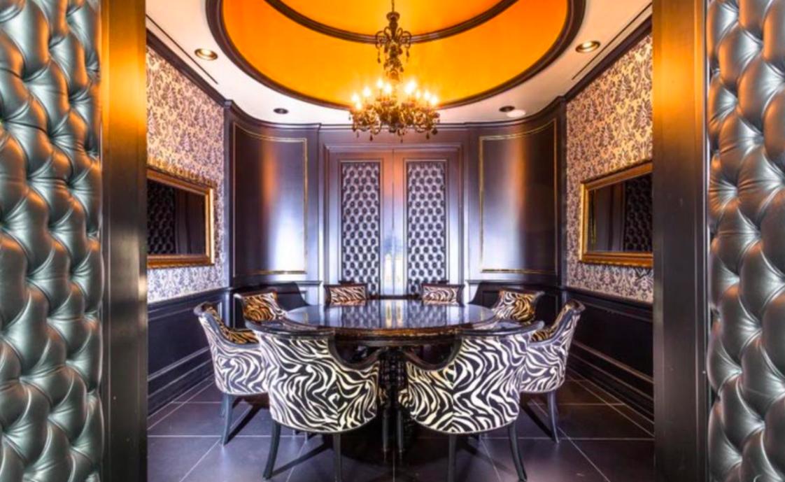 Houston-Motor-Club-Brushed-gold-ceiling-
