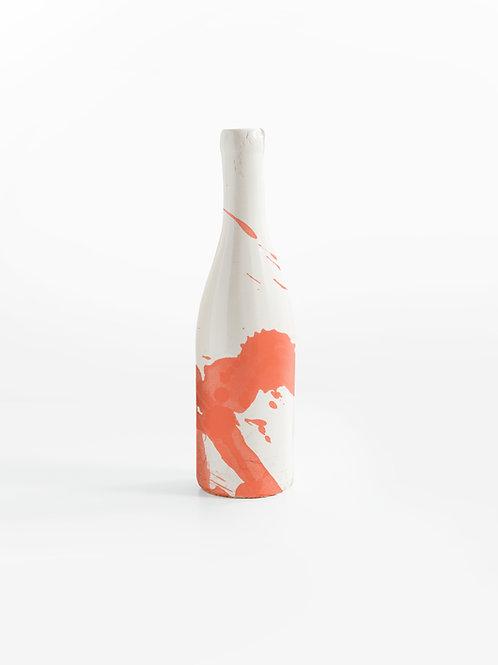 Ceramic bottle with design