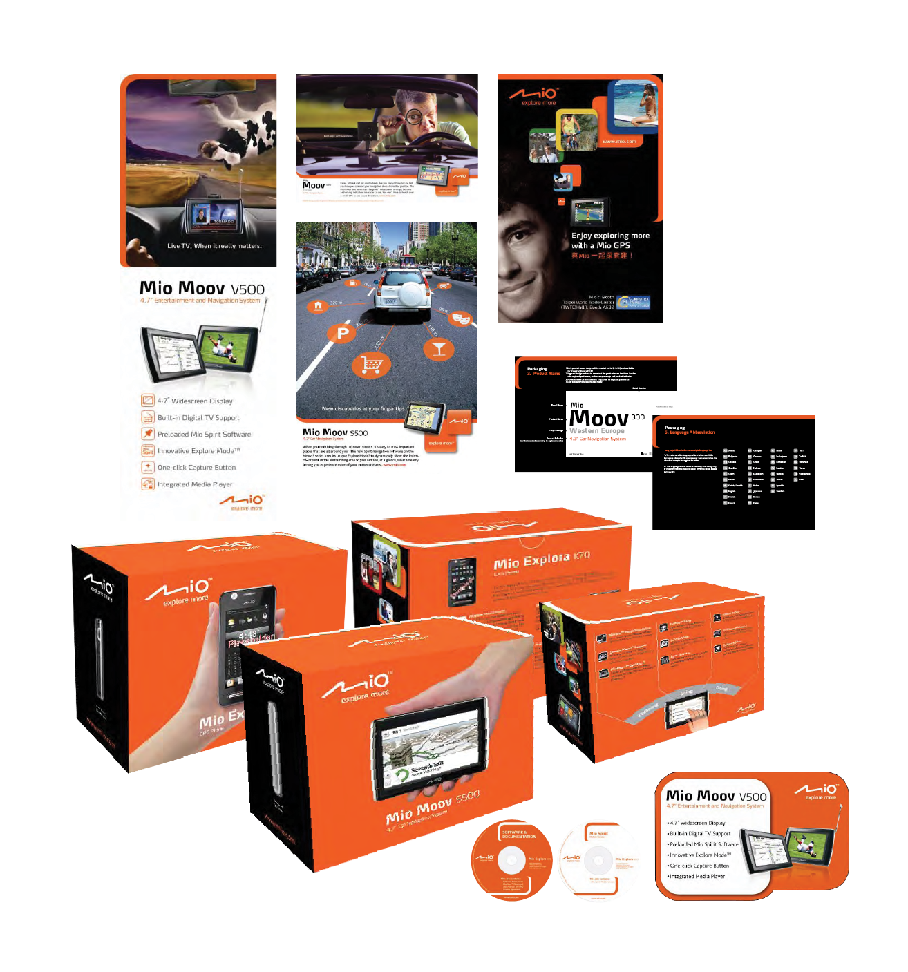 Mio branding and marketing materials