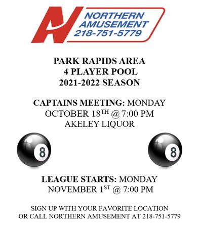 Park Rapids Area Pool League
