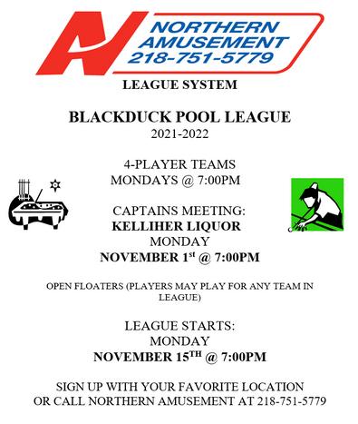 Blackduck Pool League