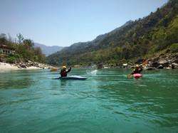 Fun in between rapids