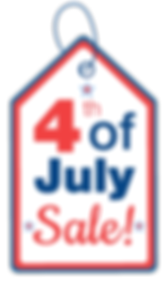 4th of July Sale Tag