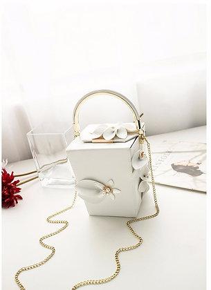 Evening Bag Luxury CUBE - White