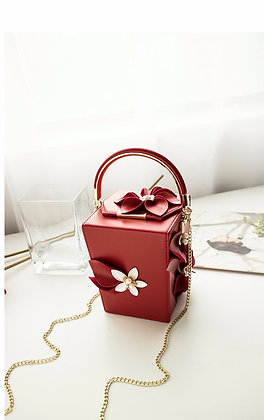 Evening Bag Luxury CUBE - Red