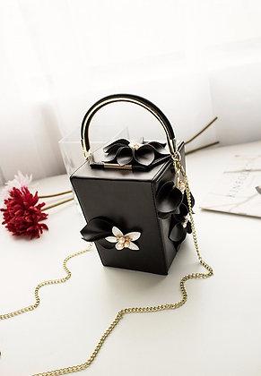 Evening Bag Luxury CUBE - Black