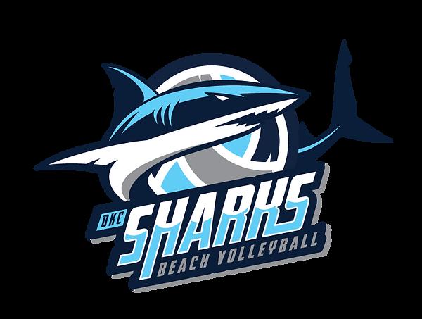 OKC Sharks Beach Volleyball Logo