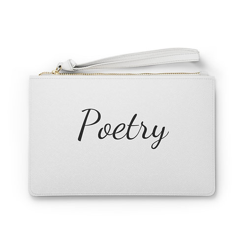 Poetry Clutch Bag