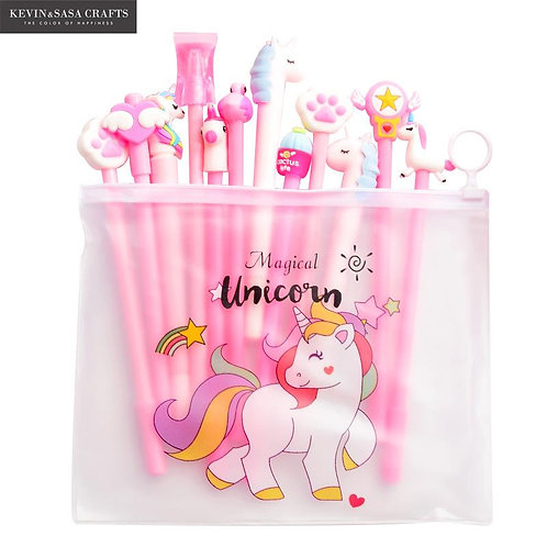 Gel Unicorn Pen 10Pcs/Set