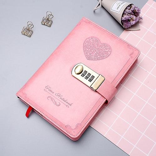 Diary Poetry Password Book With Lock Retro