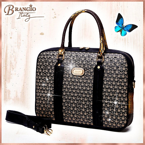Galaxy Crystal Poetry Designer Laptop Bag for Women Office Work Bag