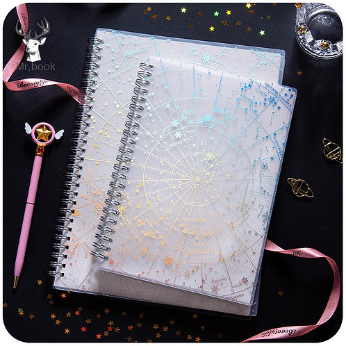 Creative Starry Poetry Sky PP Coil Notebook
