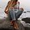 Thumbnail: Vintage Double Beaded Allusion Starfish Anklet Ankle Bracelet