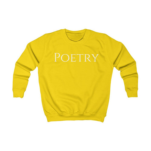 Kids Poetry Sweatshirt