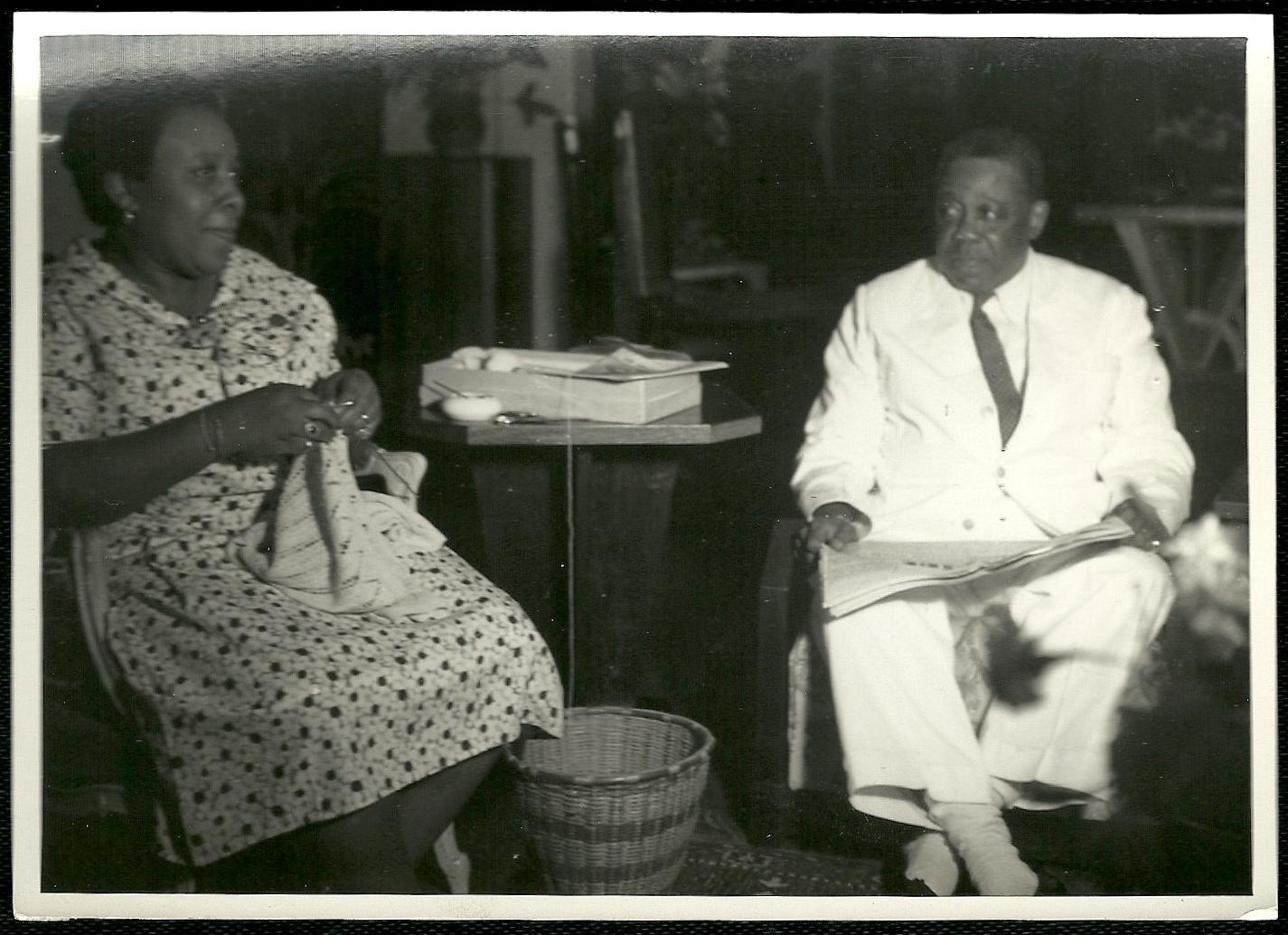 Felix Eboué et son épouse