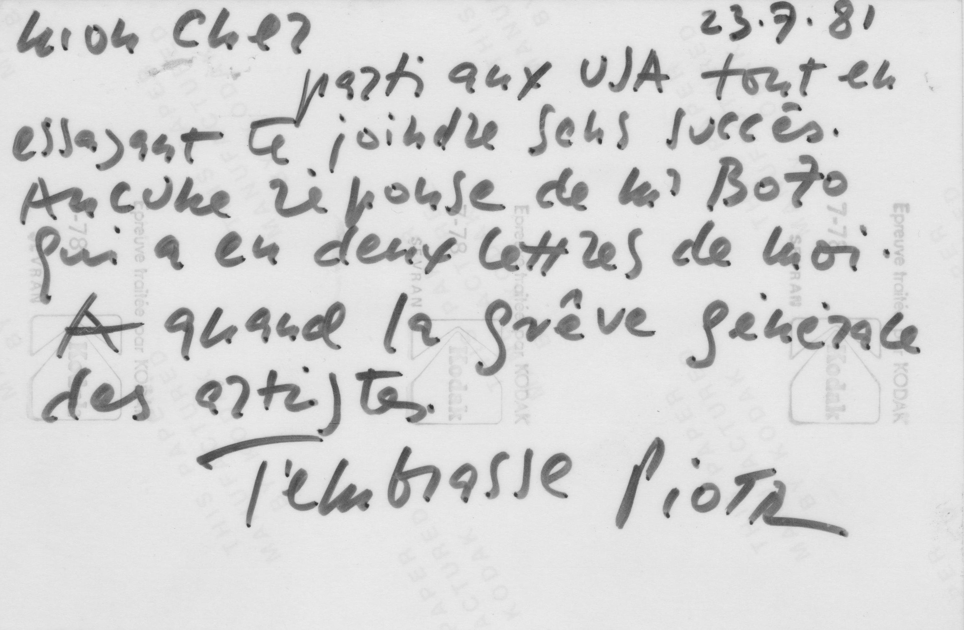PIOTR KOWALSKI, Sans titre (1981).