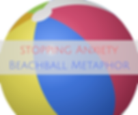 Beachball Metaphor for Stopping Anxiety, CBT Therapy Hertfordshire
