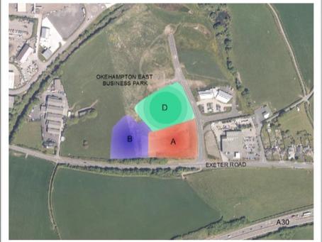 Three plots for sale at Okehampton East Business Park