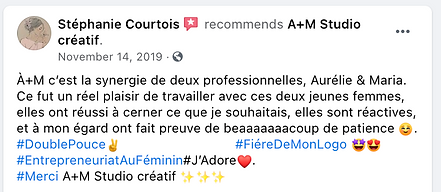 Testimonial from Stephanie Courtois Recommends AM in French.png