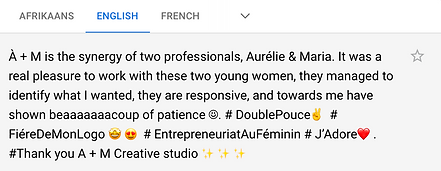 Testimonial from Stephanie Courtois Recommends AM translated to english.png