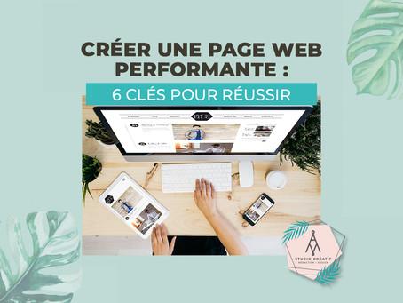 Créer une page web performante : 6 clés pour réussir