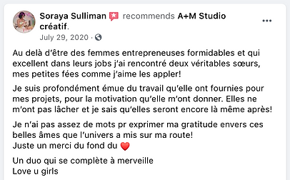 Testimonial from Soraya Sulliman Recommends AM in French.png