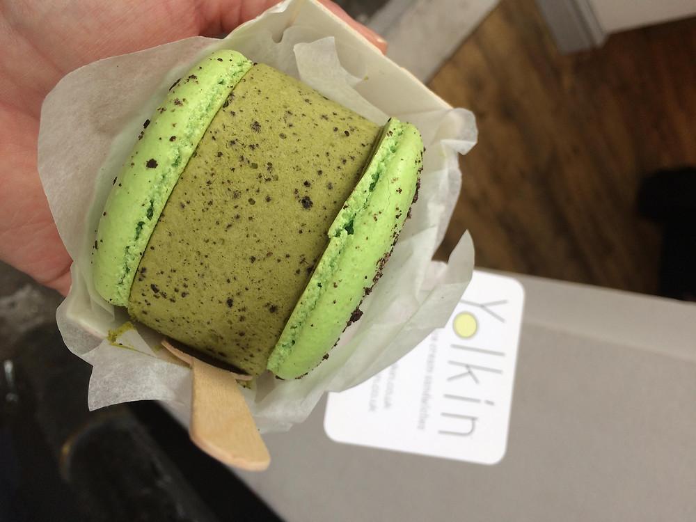 Yolkin ice-cream macaron sandwich