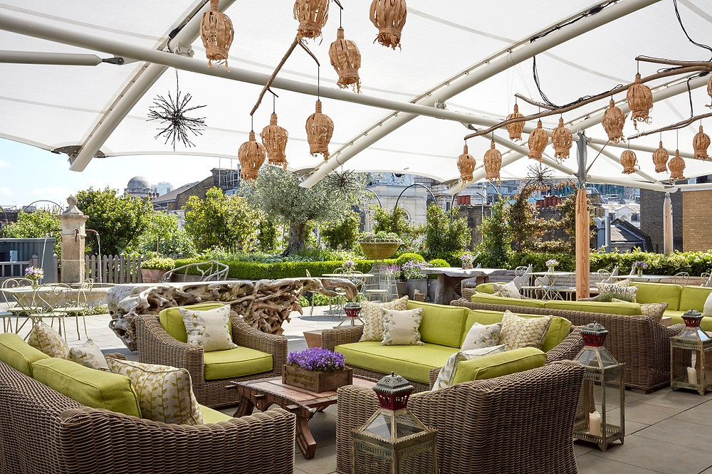 Ham Yard Hotel roof terrace London