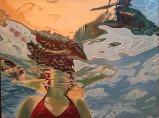 """""""Quickening"""" portrait by Alexa de los Reyes"""