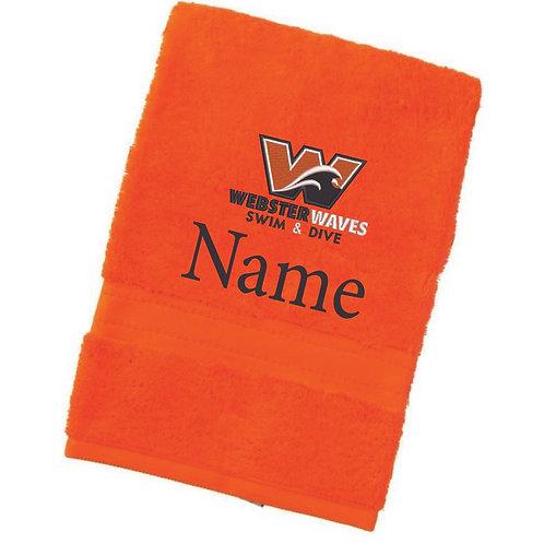 Webster Waves Orange Towel
