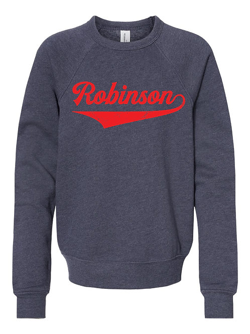 ROBINSON NAVY BELLA + CANVAS - Unisex Sponge Fleece Raglan Sweatshirt