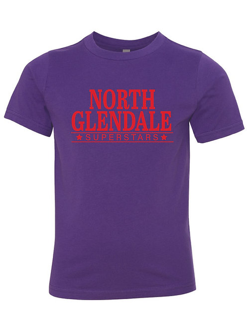 NORTH GLENDALE Purple Next Level - CVC Short Sleeve Crew