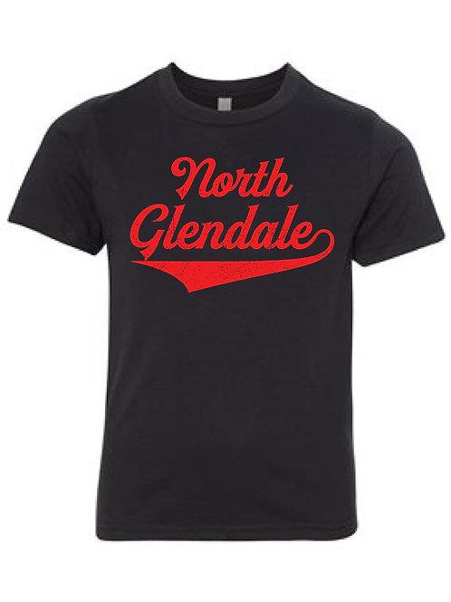 NORTH GLENDALE BLACK Next Level - CVC Short Sleeve Crew