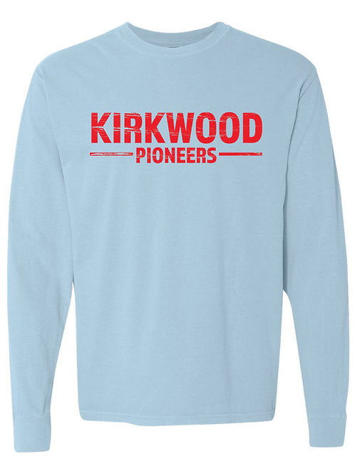 KIRKWOOD Blue Comfort Colors - Garment-Dyed Long Sleeve T-Shirt