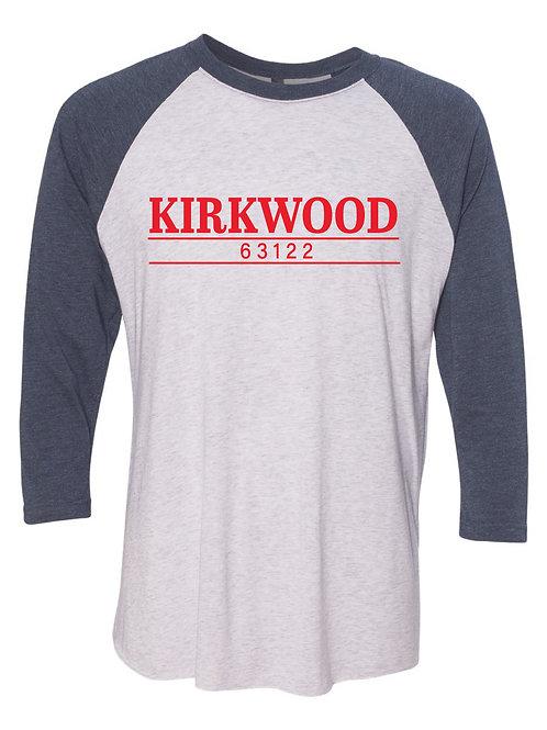 KIRKWOOD Navy Unisex Baseball Tee