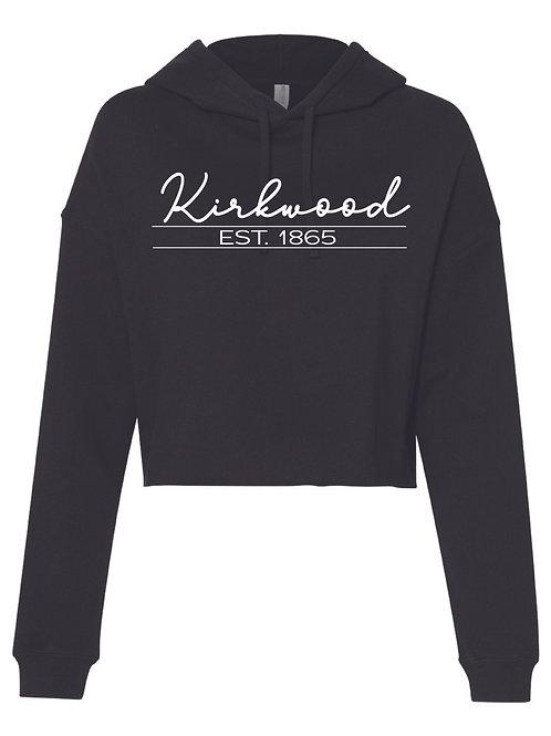 Kirkwood Black Women's Lightweight Cropped Hooded Sweatshirt