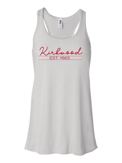 Kirkwood WHITE Women's Flowy Racerback Tank