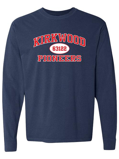 KIRKWOOD Navy Comfort Colors - Garment-Dyed Long Sleeve T-Shirt